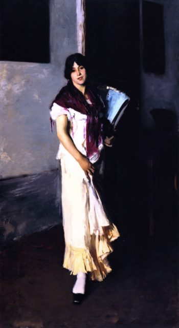 Full Length Study of a Venetian Model | John Singer Sargent | oil painting