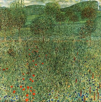 Blooming field | Gustav Klimt | oil painting