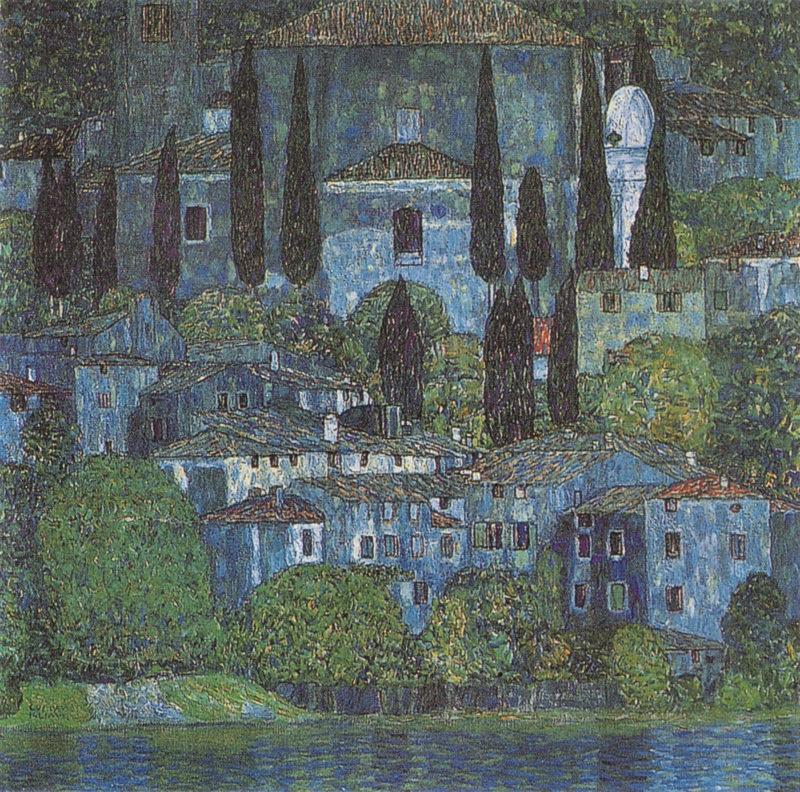 Chruch in Cassone   Gustav Klimt   oil painting