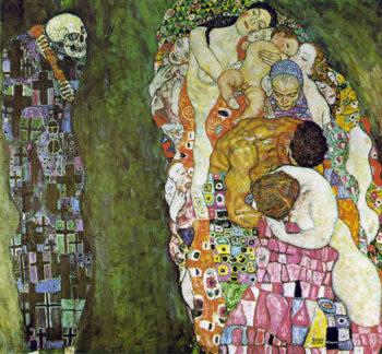 Death and Life   Gustav Klimt   oil painting