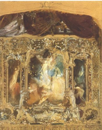 Design for a theater curtain 1 | Gustav Klimt | oil painting