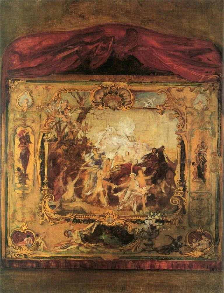 Design for a theater curtain | Gustav Klimt | oil painting