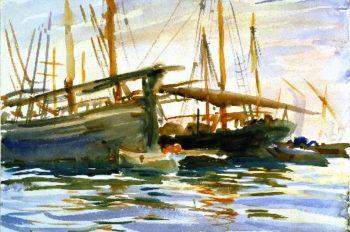 Shipping Venice | John Singer Sargent | oil painting