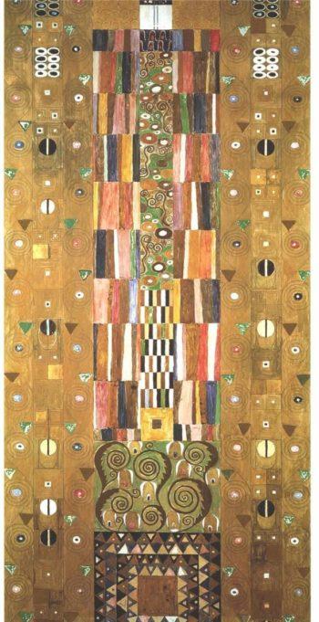 Design for the Stocletfries   Gustav Klimt   oil painting