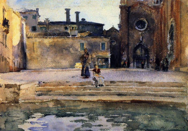 Campo di Frari Venice   John Singer Sargent   oil painting