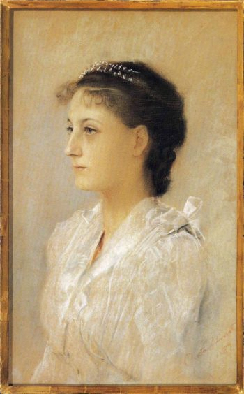 Emilie Floge Aged 17   Gustav Klimt   oil painting