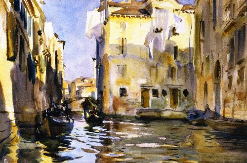 Campiello di Santa Marina | John Singer Sargent | oil painting