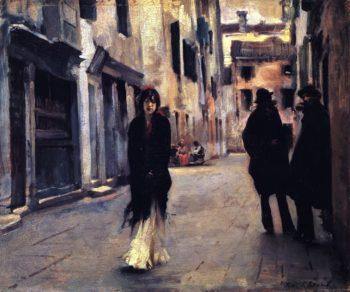 Street in Venice | John Singer Sargent | oil painting