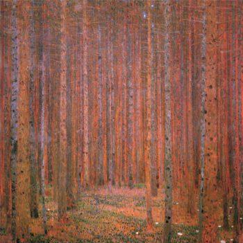 Fir Forest I   Gustav Klimt   oil painting