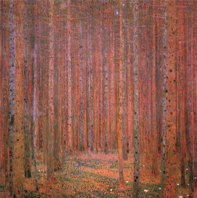 Fir Forest I | Gustav Klimt | oil painting