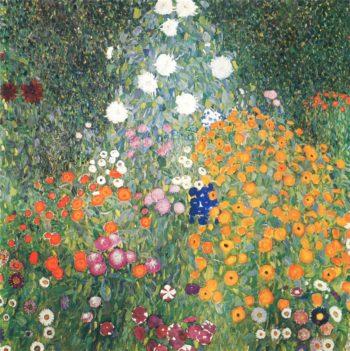 Flower Garden   Gustav Klimt   oil painting