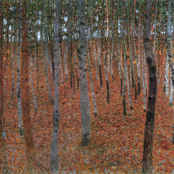 Forest of Beech Trees   Gustav Klimt   oil painting