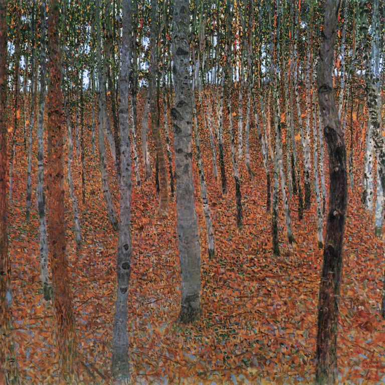 Forest of Beech Trees | Gustav Klimt | oil painting