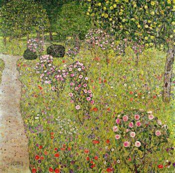Fruit Garden With Roses | Gustav Klimt | oil painting