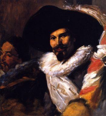 The Standard Bearer from The Banquet of the Officers of the St George Civic Guard   John Singer Sargent   oil painting