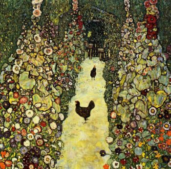 Garden with Roosters | Gustav Klimt | oil painting
