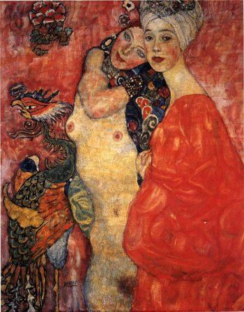 Girl friends | Gustav Klimt | oil painting