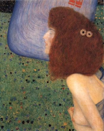 Girl With Blue Veil | Gustav Klimt | oil painting