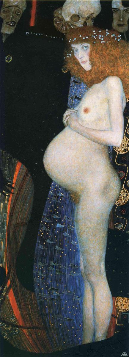 Hope I | Gustav Klimt | oil painting