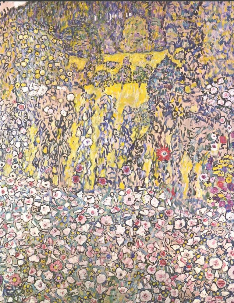 Horticultural landscape with a hilltop | Gustav Klimt | oil painting
