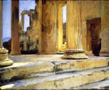 Sketch of Erechtheum | John Singer Sargent | oil painting
