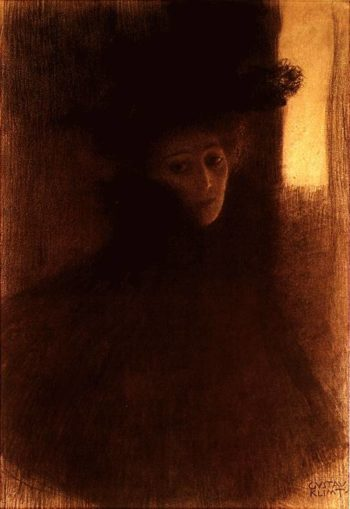 Lady with Cape and Hat | Gustav Klimt | oil painting