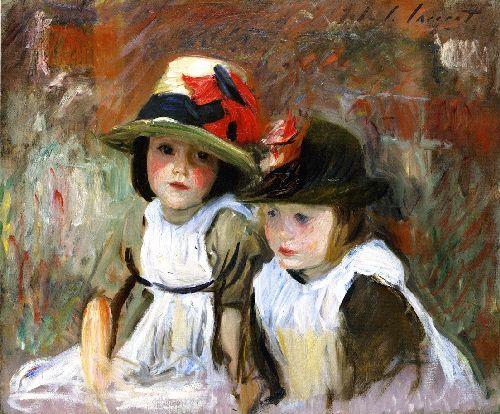 The Village Children   John Singer Sargent   oil painting