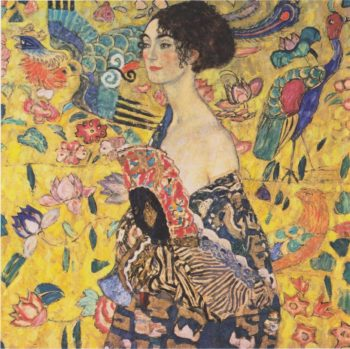 Lady with Fan | Gustav Klimt | oil painting