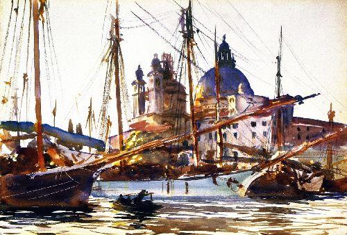The Church of Santa Maria della Salute Venice | John Singer Sargent | oil painting