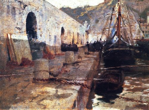 Boats in Harbor I | John Singer Sargent | oil painting