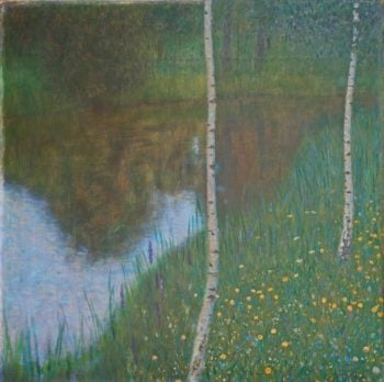 Lakeside with Birch Trees | Gustav Klimt | oil painting