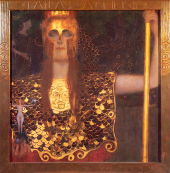 Minerva or Pallas Athena | Gustav Klimt | oil painting