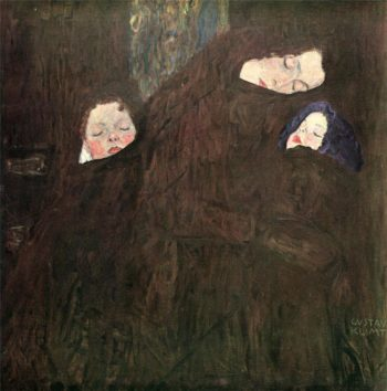 Mother with Children | Gustav Klimt | oil painting