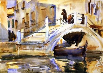 Venice Bridge with Figures | John Singer Sargent | oil painting
