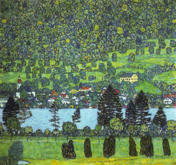 Mountain slope at Unterach | Gustav Klimt | oil painting