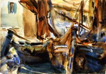 At Chioggia | John Singer Sargent | oil painting
