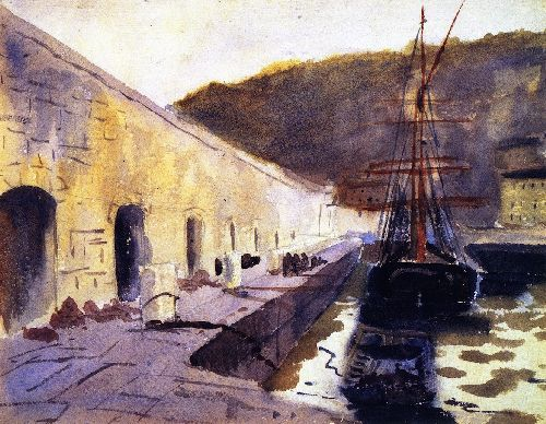 Boats in Harbor II | John Singer Sargent | oil painting
