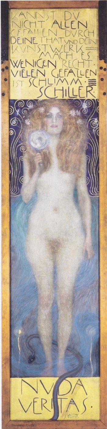 Nuda Veritas   Gustav Klimt   oil painting