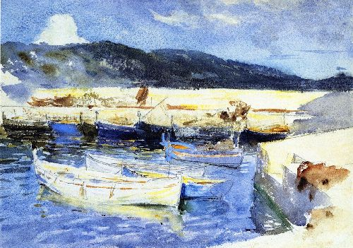 Boats II | John Singer Sargent | oil painting