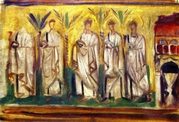 A Group of Five Male Saints | John Singer Sargent | oil painting