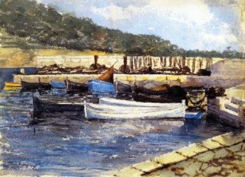 Boats I | John Singer Sargent | oil painting