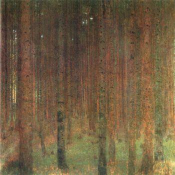 Pine Forest II   Gustav Klimt   oil painting
