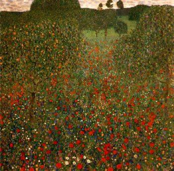 Poppy Field   Gustav Klimt   oil painting