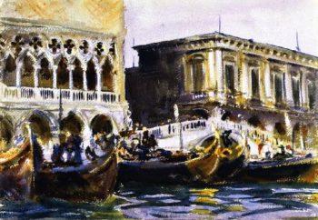 La Riva | John Singer Sargent | oil painting