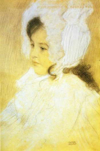 Portrait of a Girl   Gustav Klimt   oil painting
