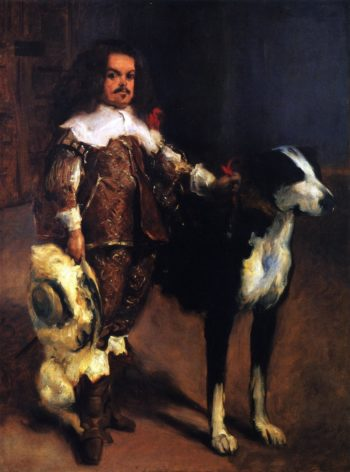 Dwarf with a Dog | John Singer Sargent | oil painting