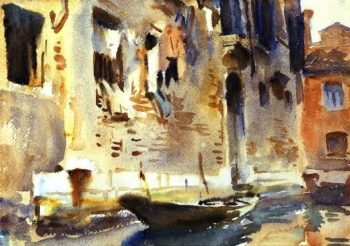A Venetian Canal | John Singer Sargent | oil painting