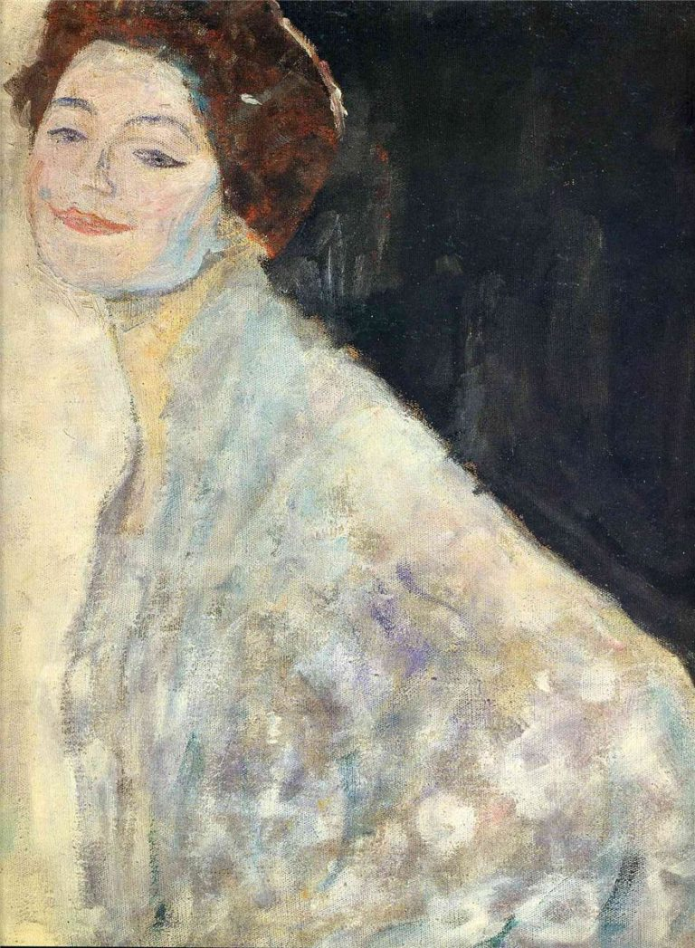 Portrait of a Lady in White | Gustav Klimt | oil painting