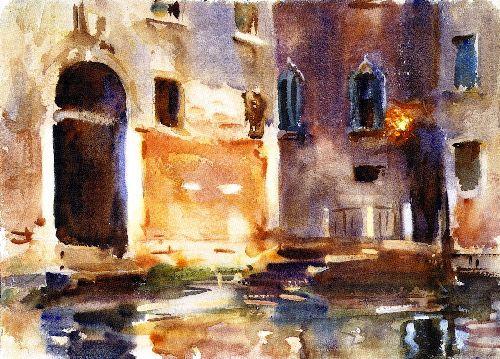 Venice Zattere   John Singer Sargent   oil painting