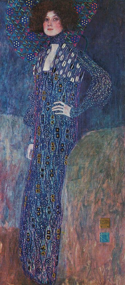 Portrait of Emilie Floge   Gustav Klimt   oil painting